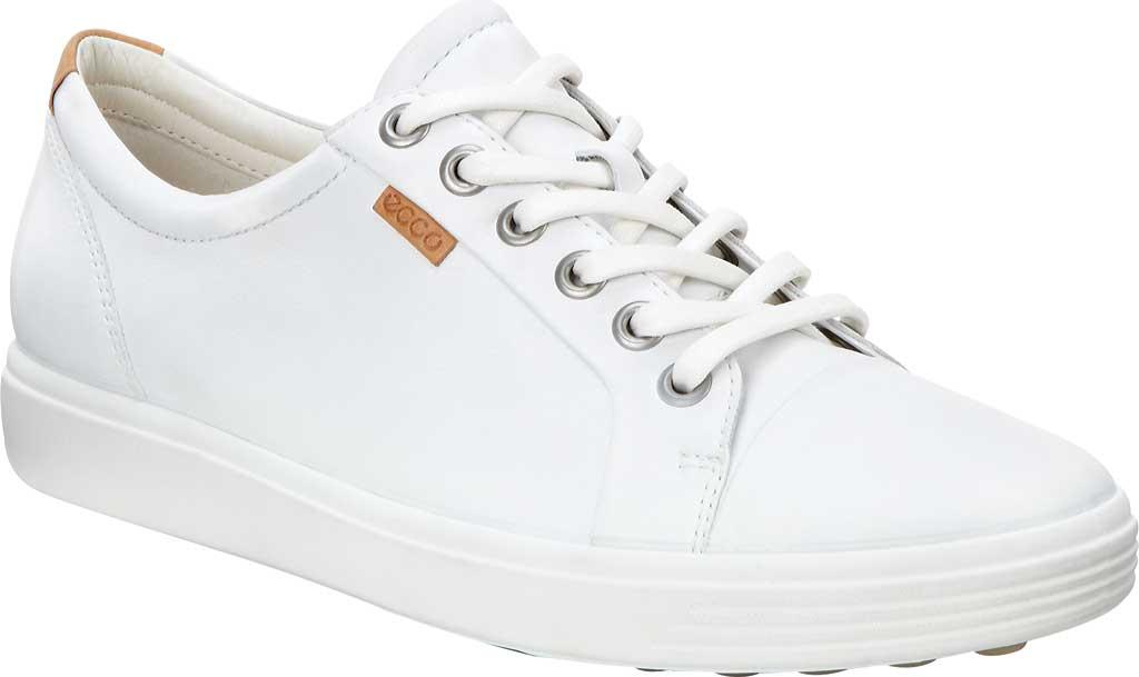 Women's ECCO Soft 7 Sneaker, White Leather/Nubuck, large, image 1