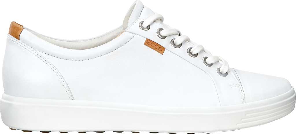 Women's ECCO Soft 7 Sneaker, White Leather/Nubuck, large, image 2
