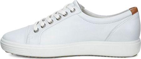Women's ECCO Soft 7 Sneaker, White Leather/Nubuck, large, image 3