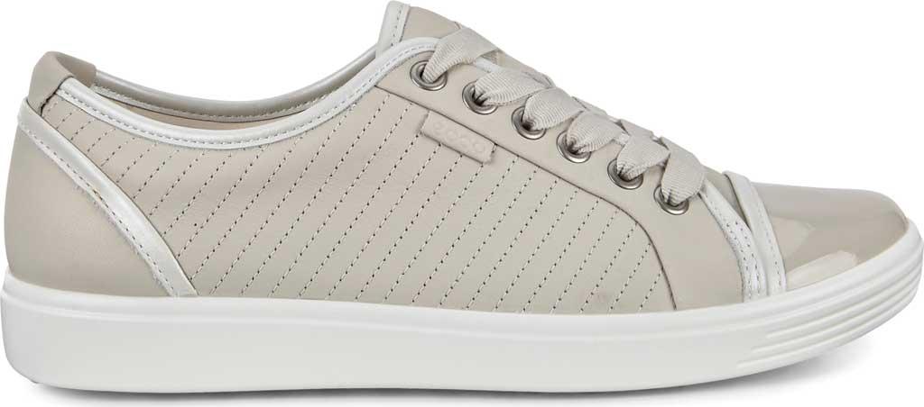 Women's ECCO Soft 7 Sneaker, Gravel/White/Gravel Leather, large, image 2