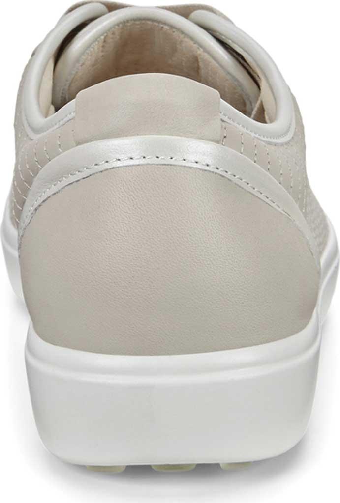 Women's ECCO Soft 7 Sneaker, Gravel/White/Gravel Leather, large, image 4