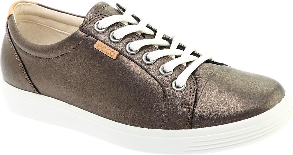 Women's ECCO Soft 7 Sneaker, Black Stone Metallic Nubuck, large, image 1