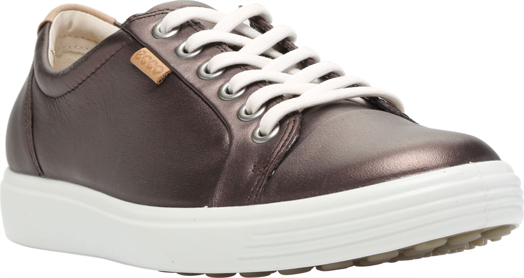 Women's ECCO Soft 7 Sneaker, Shale Metallic Full Grain Leather, large, image 1