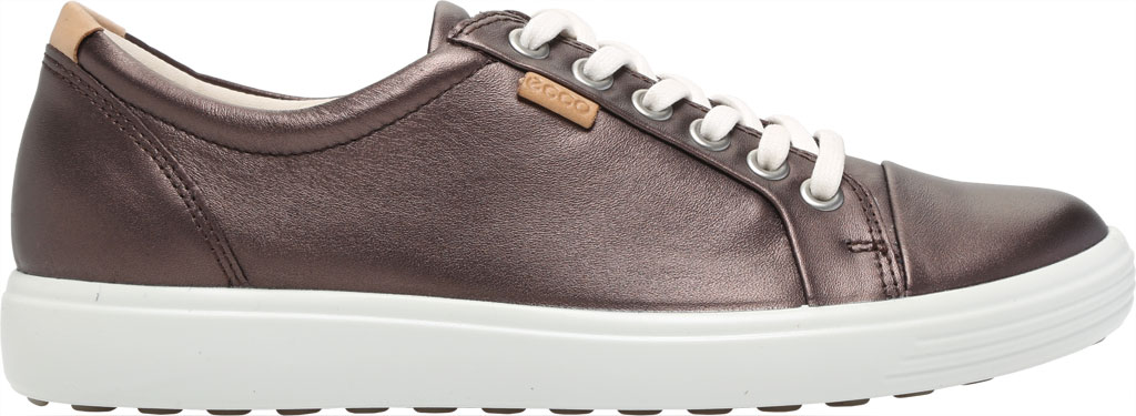 Women's ECCO Soft 7 Sneaker, Shale Metallic Full Grain Leather, large, image 2