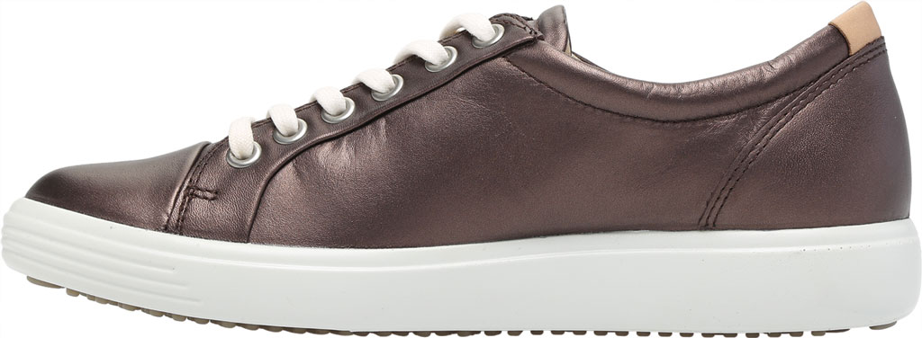 Women's ECCO Soft 7 Sneaker, Shale Metallic Full Grain Leather, large, image 3