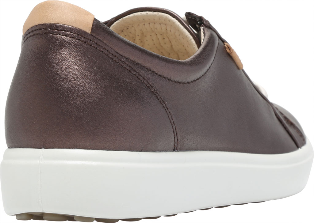 Women's ECCO Soft 7 Sneaker, Shale Metallic Full Grain Leather, large, image 4