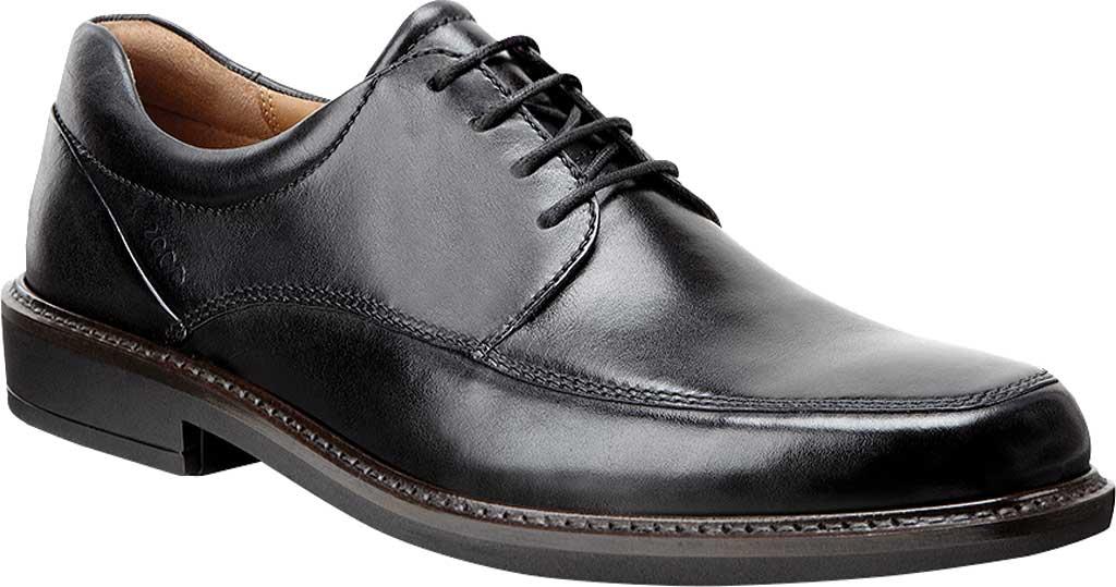Men's ECCO Holton Apron Toe Tie, Black Leather, large, image 1