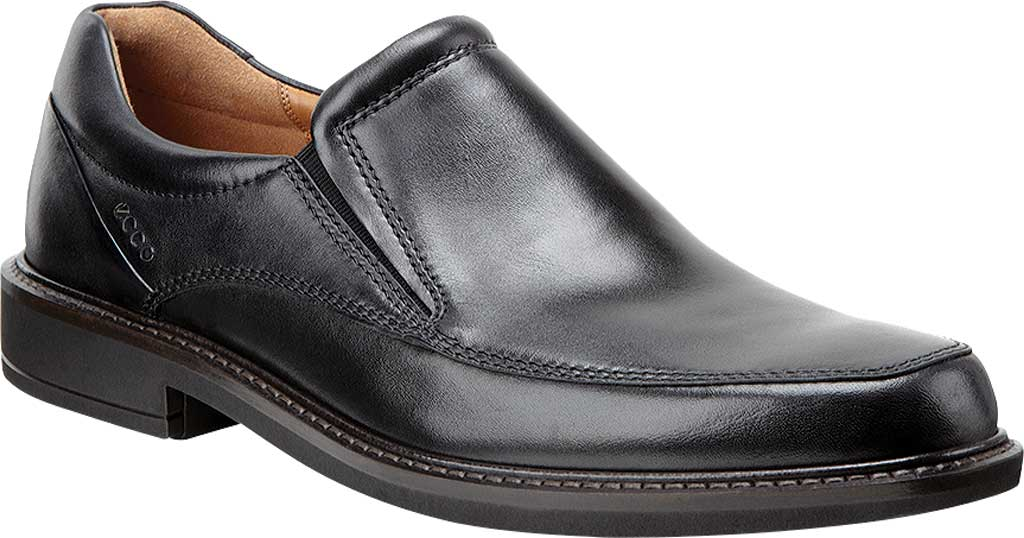 Men's ECCO Holton Apron Toe Slip On, Black Leather, large, image 1