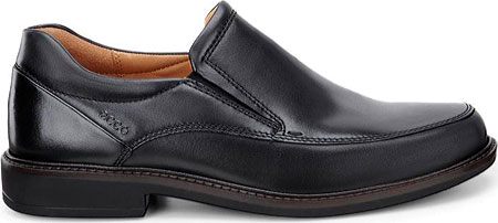 Men's ECCO Holton Apron Toe Slip On, Black Leather, large, image 2