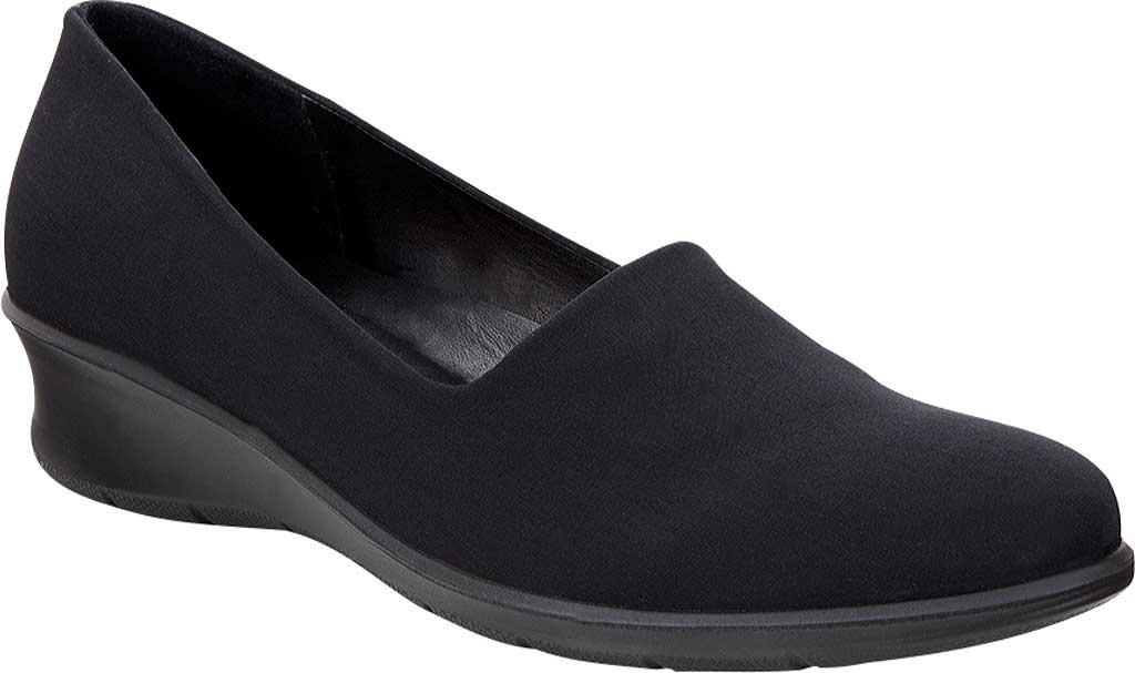 Women's ECCO Felicia Stretch Shoe, Black/Black Leather, large, image 1