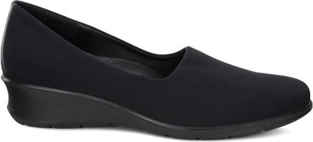 Women's ECCO Felicia Stretch Shoe, Black/Black Leather, large, image 2
