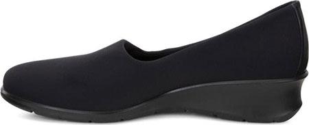 Women's ECCO Felicia Stretch Shoe, Black/Black Leather, large, image 3