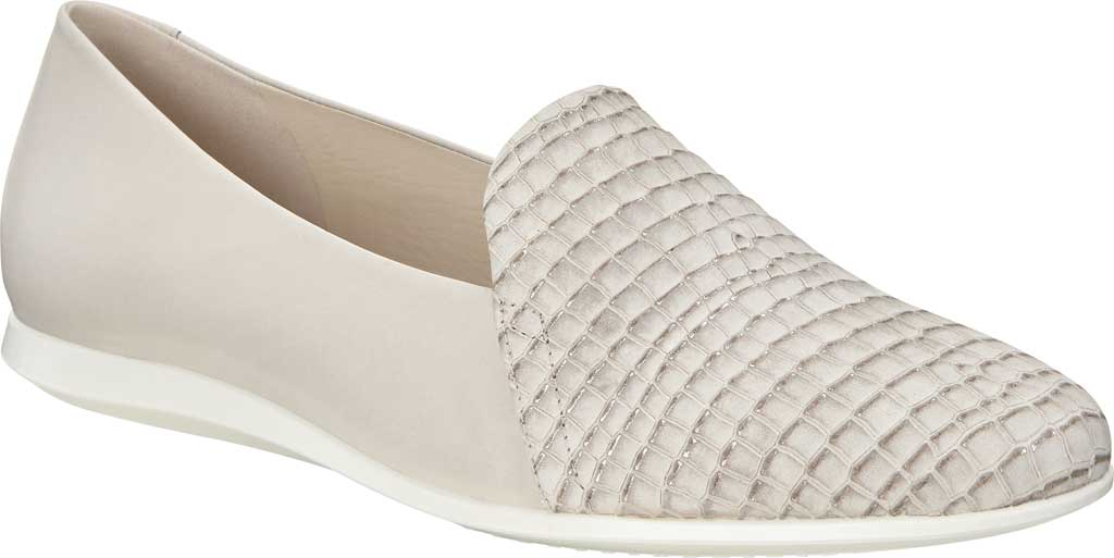 Women's ECCO Touch 2.0 Scale Ballerina Flat, Moon Rock/Gravel Leather, large, image 1