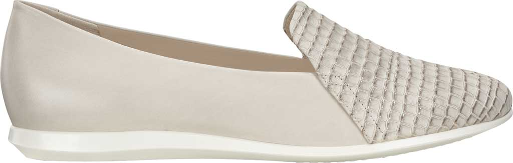 Women's ECCO Touch 2.0 Scale Ballerina Flat, Moon Rock/Gravel Leather, large, image 2