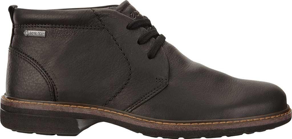 Men's ECCO Turn GORE-TEX Chukka Tie Boot, Black Cow Oil Nubuck, large, image 2