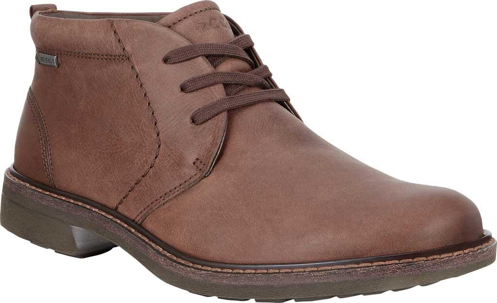Men's ECCO Turn GORE-TEX Chukka Tie Boot, Cocoa Brown Cow Oil Nubuck, large, image 1