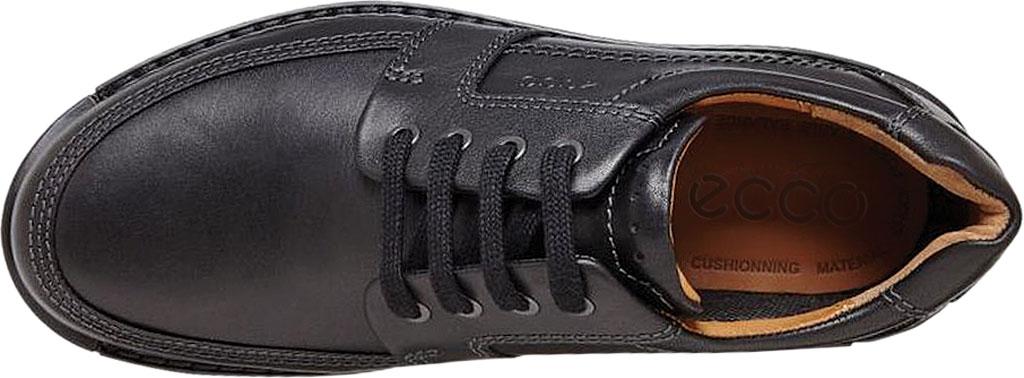 Men's ECCO Fusion II Tie Moc Toe Shoe, Black Cow Leather, large, image 6