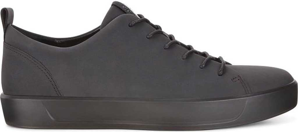 Men's ECCO Soft 8 Lace Up Sneaker, Black Cow Leather/Black, large, image 2