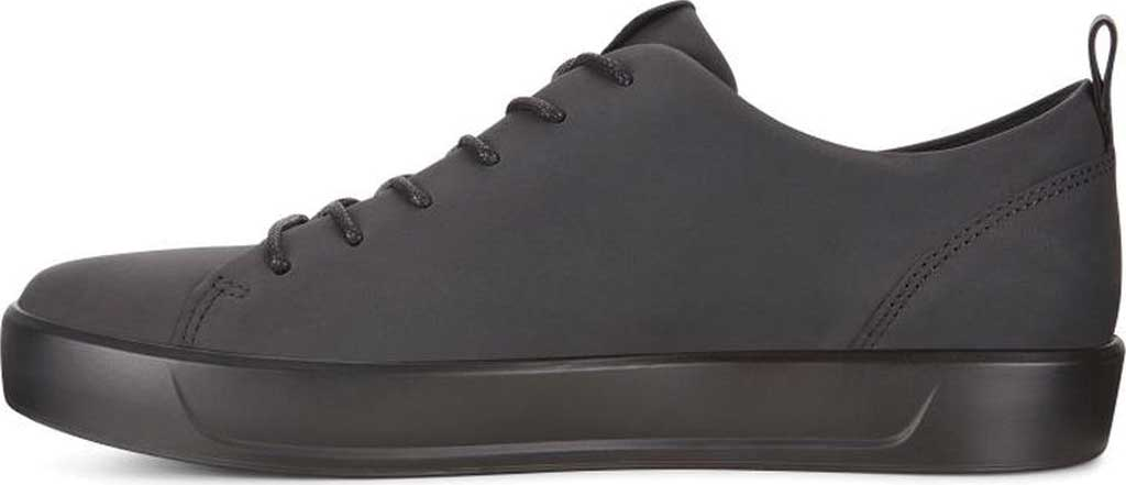 Men's ECCO Soft 8 Lace Up Sneaker, Black Cow Leather/Black, large, image 3