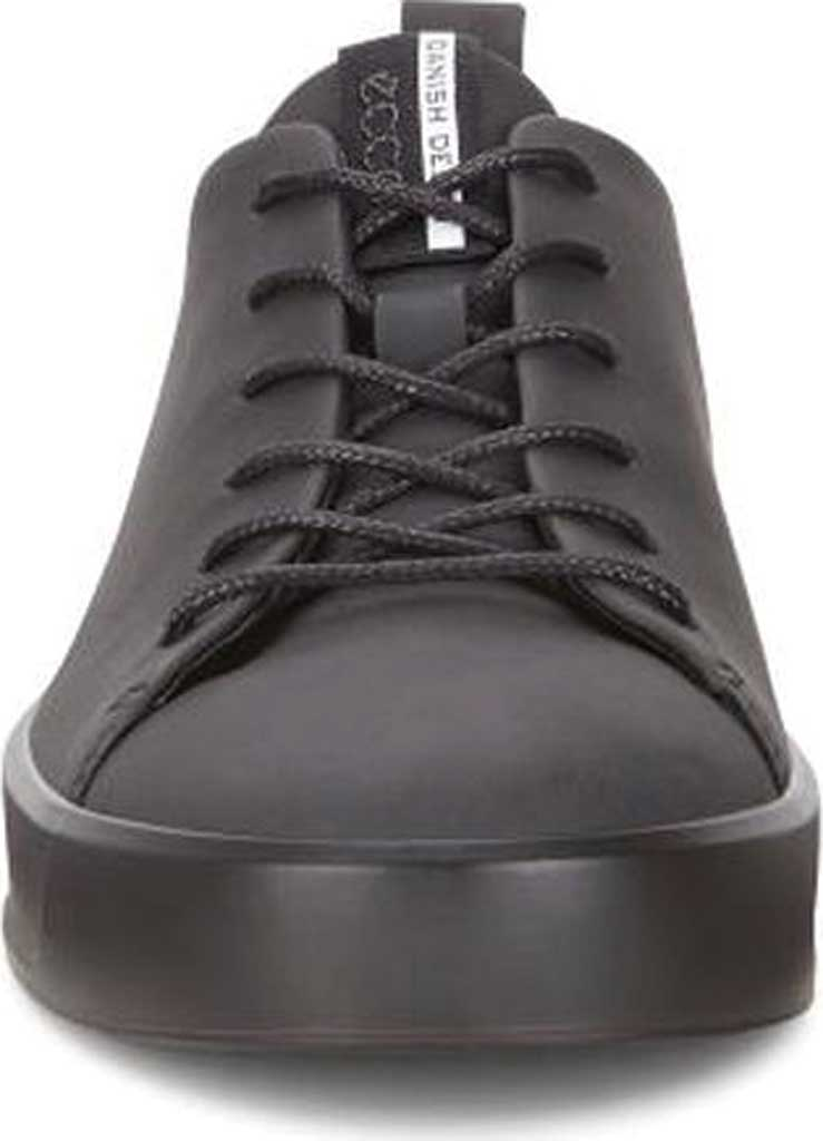 Men's ECCO Soft 8 Lace Up Sneaker, Black Cow Leather/Black, large, image 4