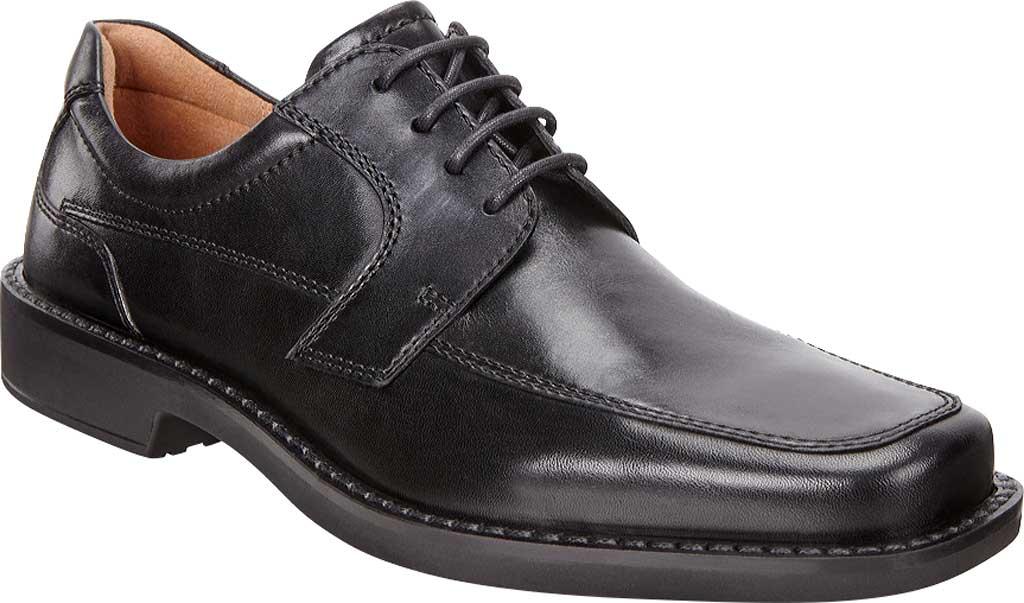 Men's ECCO Seattle Apron Toe Derby, Black Leather, large, image 1
