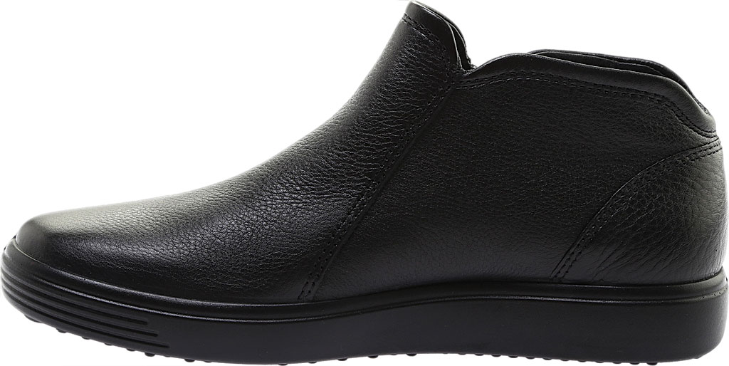 Women's ECCO Soft Low Cut Zip Bootie, Black Cow Leather, large, image 3