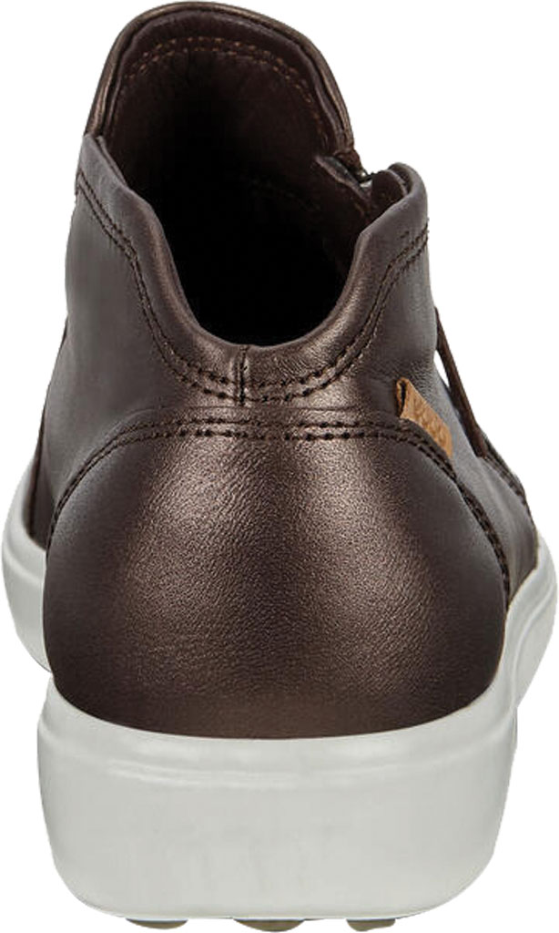 Women's ECCO Soft Low Cut Zip Bootie, Shale Metallic Nubuck, large, image 4