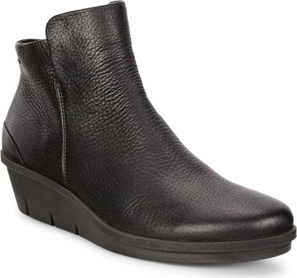 Women's ECCO Skyler Wedge Bootie, Black Nubuck, large, image 1
