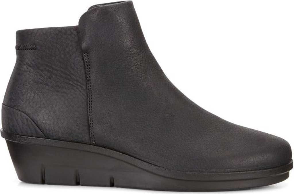 Women's ECCO Skyler Wedge Bootie, Black Nubuck, large, image 2