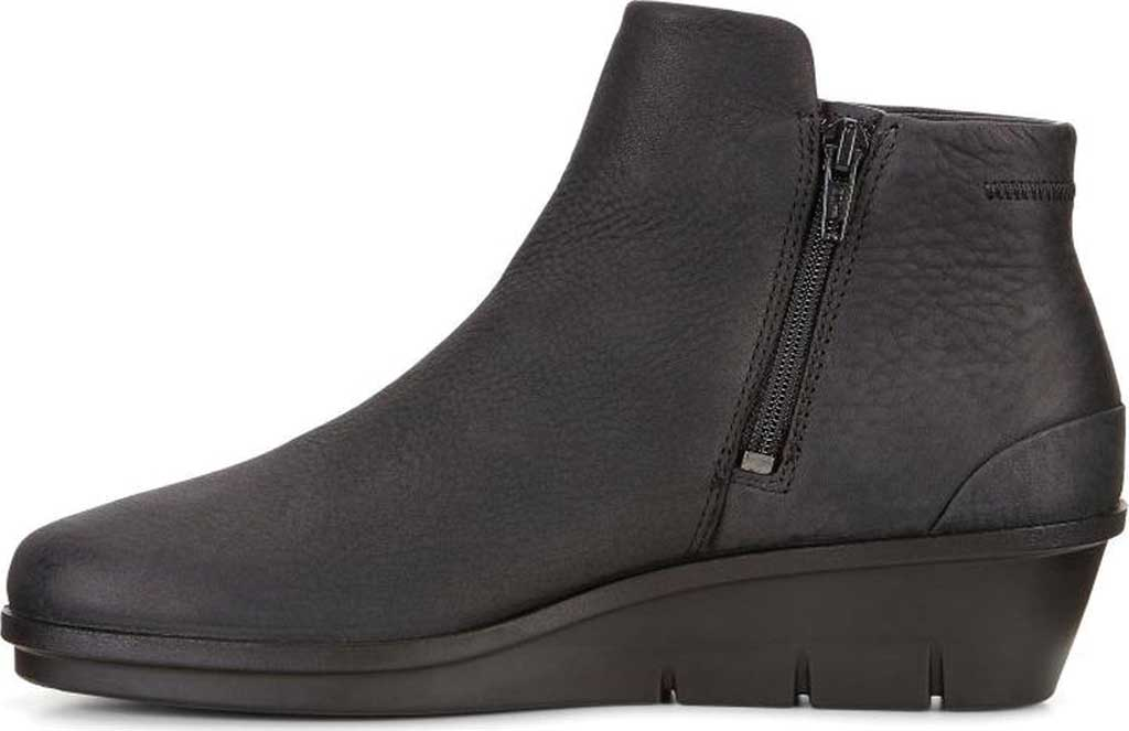 Women's ECCO Skyler Wedge Bootie, Black Nubuck, large, image 3