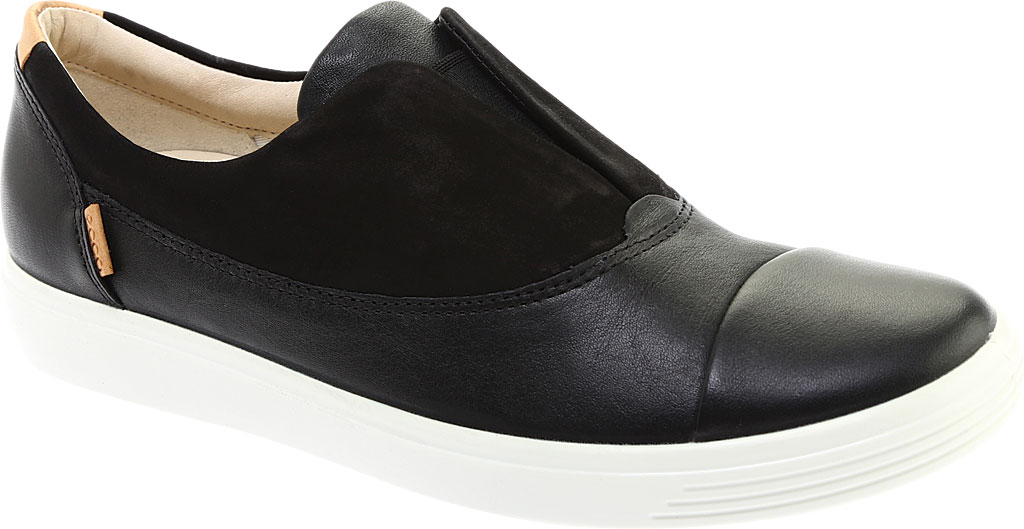 Women's ECCO Soft 7 II Slip On, Black/Black Full Grain Leather, large, image 1