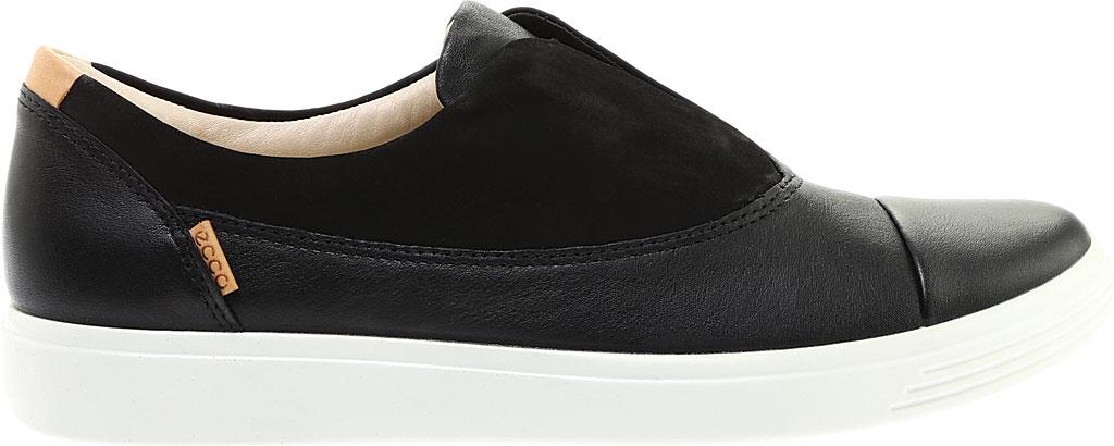 Women's ECCO Soft 7 II Slip On, Black/Black Full Grain Leather, large, image 2