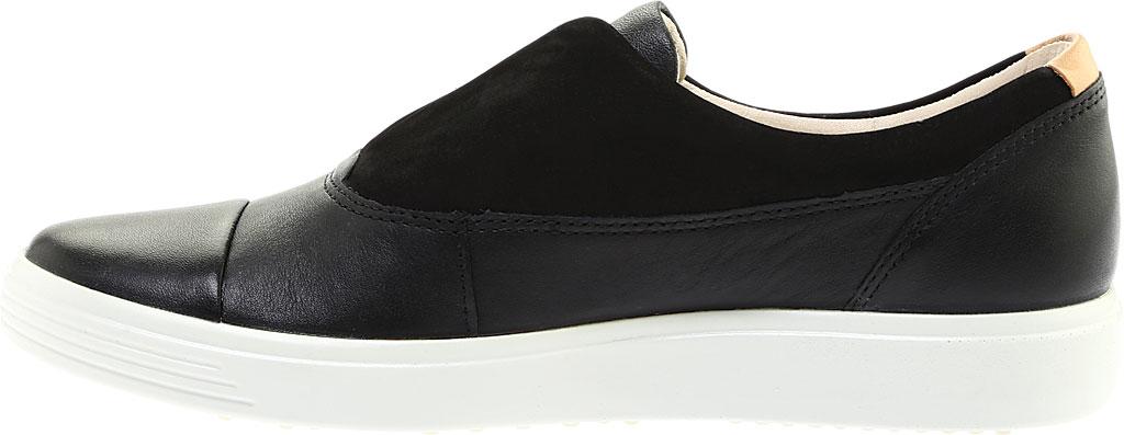 Women's ECCO Soft 7 II Slip On, Black/Black Full Grain Leather, large, image 3