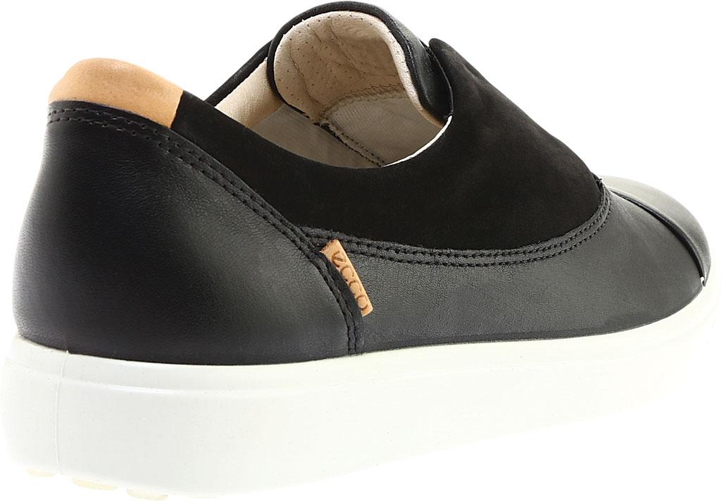 Women's ECCO Soft 7 II Slip On, Black/Black Full Grain Leather, large, image 4