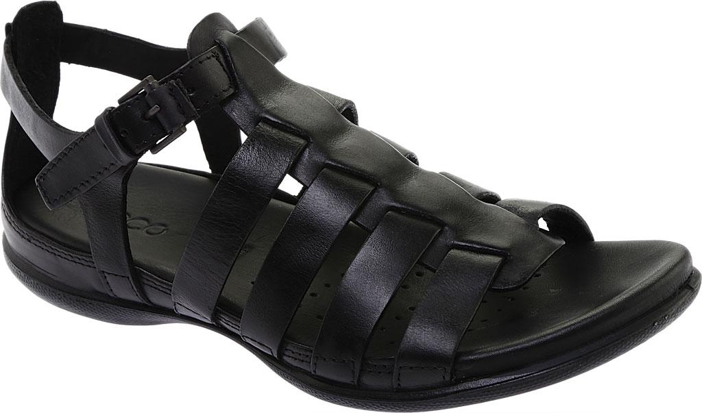 Women's ECCO Flash Strappy Sandal, Black Leather, large, image 1
