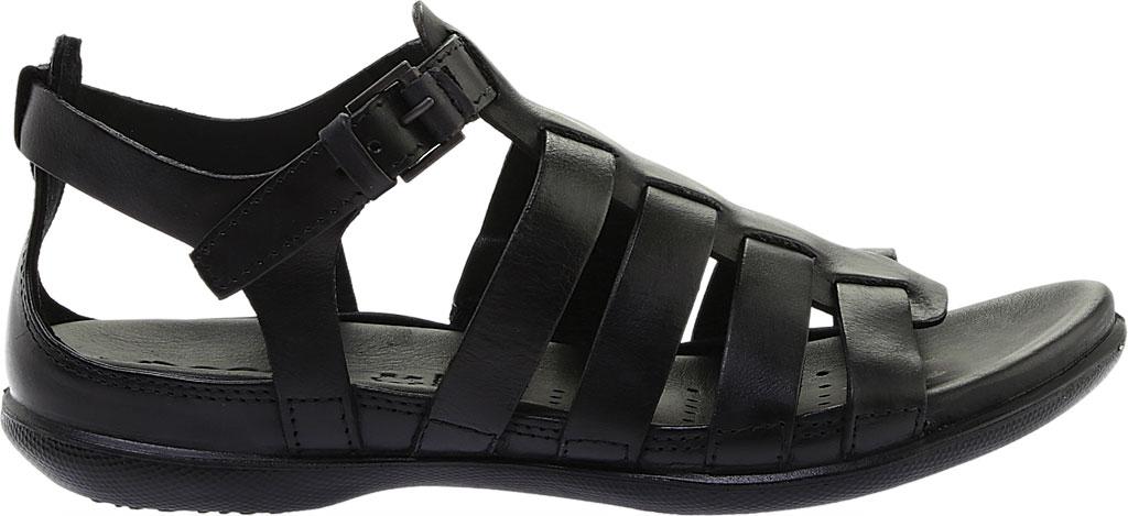 Women's ECCO Flash Strappy Sandal, Black Leather, large, image 2