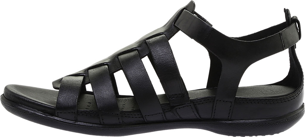 Women's ECCO Flash Strappy Sandal, Black Leather, large, image 3