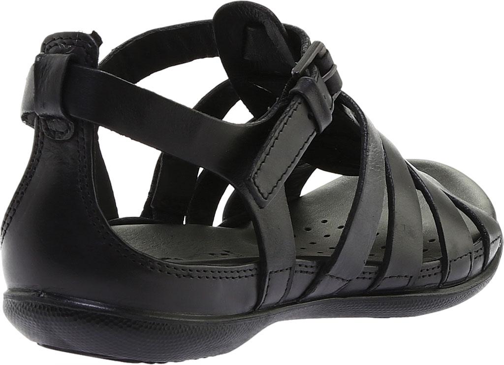 Women's ECCO Flash Strappy Sandal, Black Leather, large, image 4