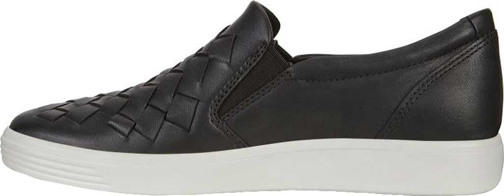 Women's ECCO Soft 7 Woven Slip-On, Black Cow Leather/Cow Nubuck, large, image 3
