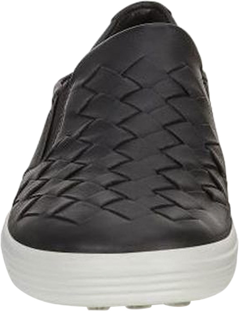 Women's ECCO Soft 7 Woven Slip-On, Black Cow Leather/Cow Nubuck, large, image 4