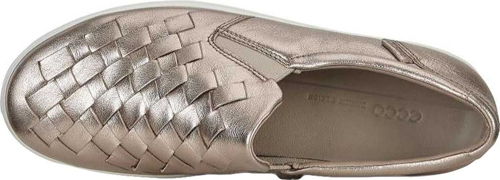 Women's ECCO Soft 7 Woven Slip-On, Warm Grey Metallic Cow Leather, large, image 4