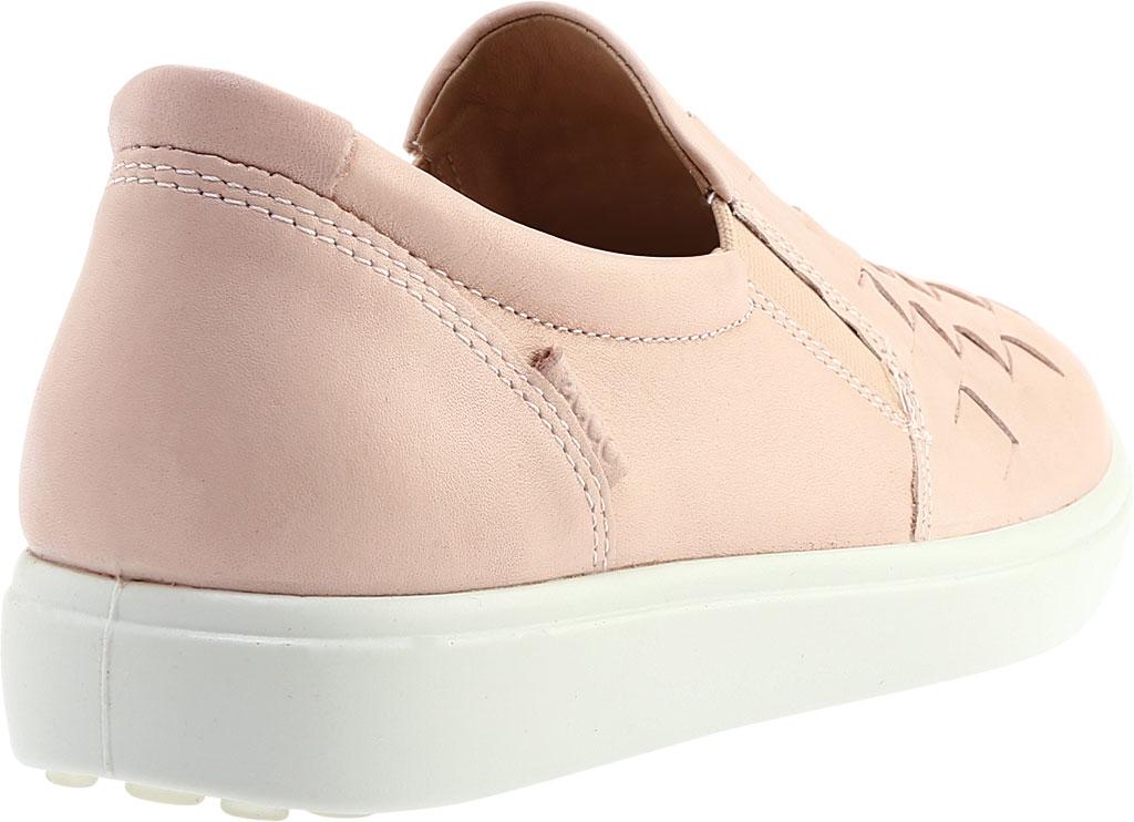 Women's ECCO Soft 7 Woven Slip-On, Rose Dust Full Grain Leather, large, image 4