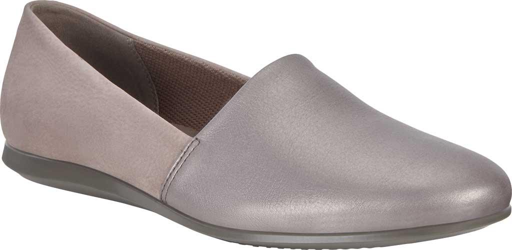 Women's ECCO Touch Ballerina 2.0 Flat, Stone Metallic/Warm Grey Leather, large, image 1