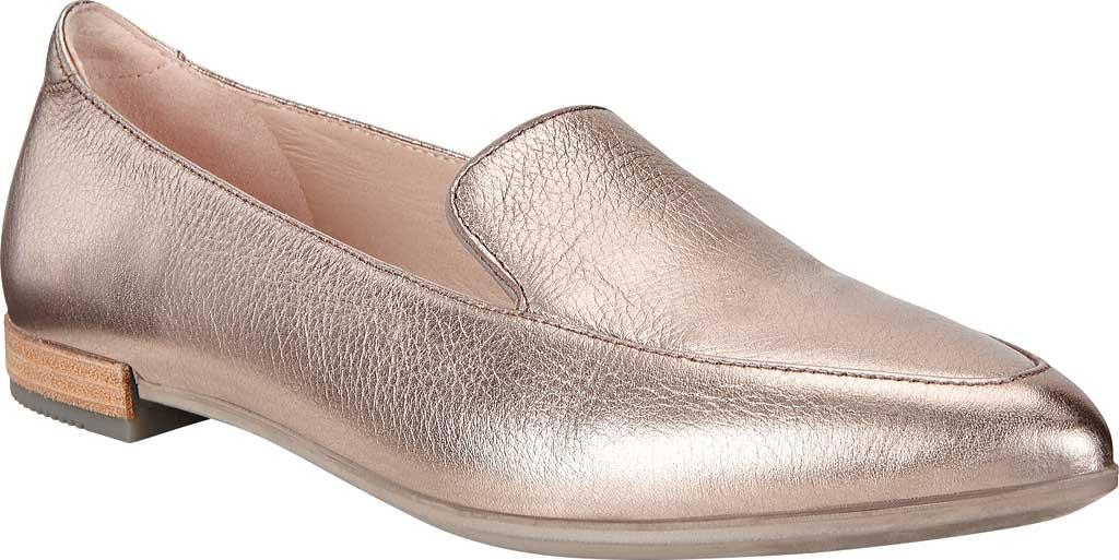 Women's ECCO Shape II Pointy Ballet Flat, Warm Grey Metallic Cow Leather, large, image 1