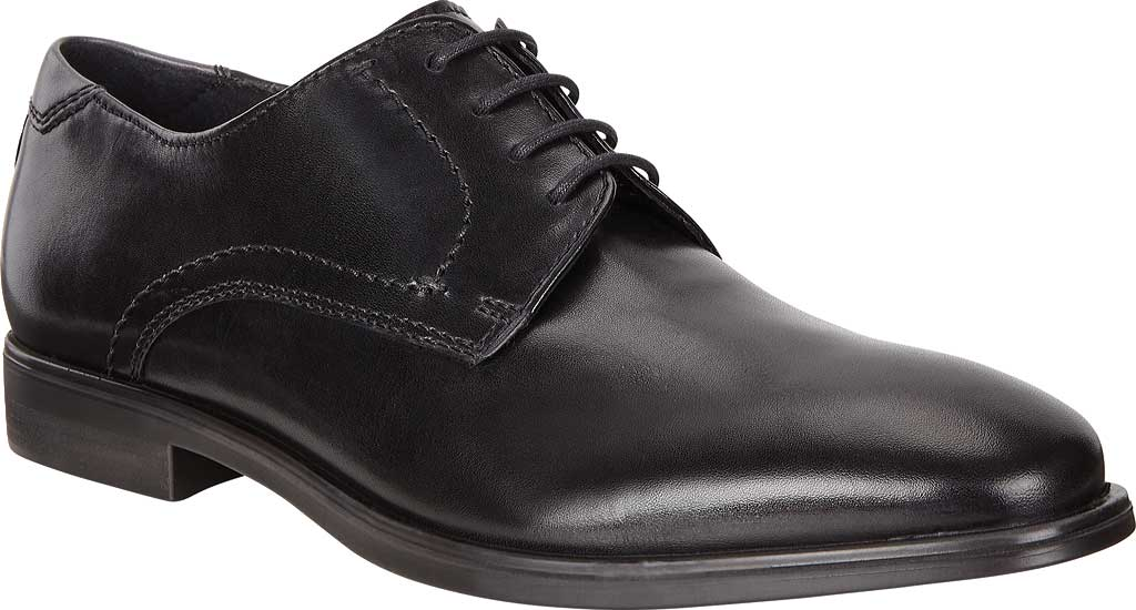 Men's ECCO Melbourne Oxford Tie, Black/Magnet Cow Leather, large, image 1