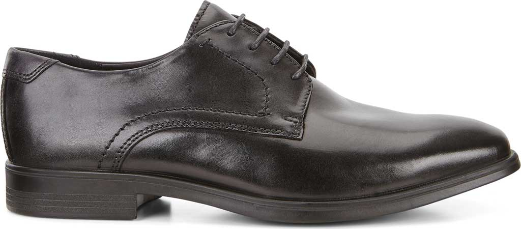 Men's ECCO Melbourne Oxford Tie, Black/Magnet Cow Leather, large, image 2