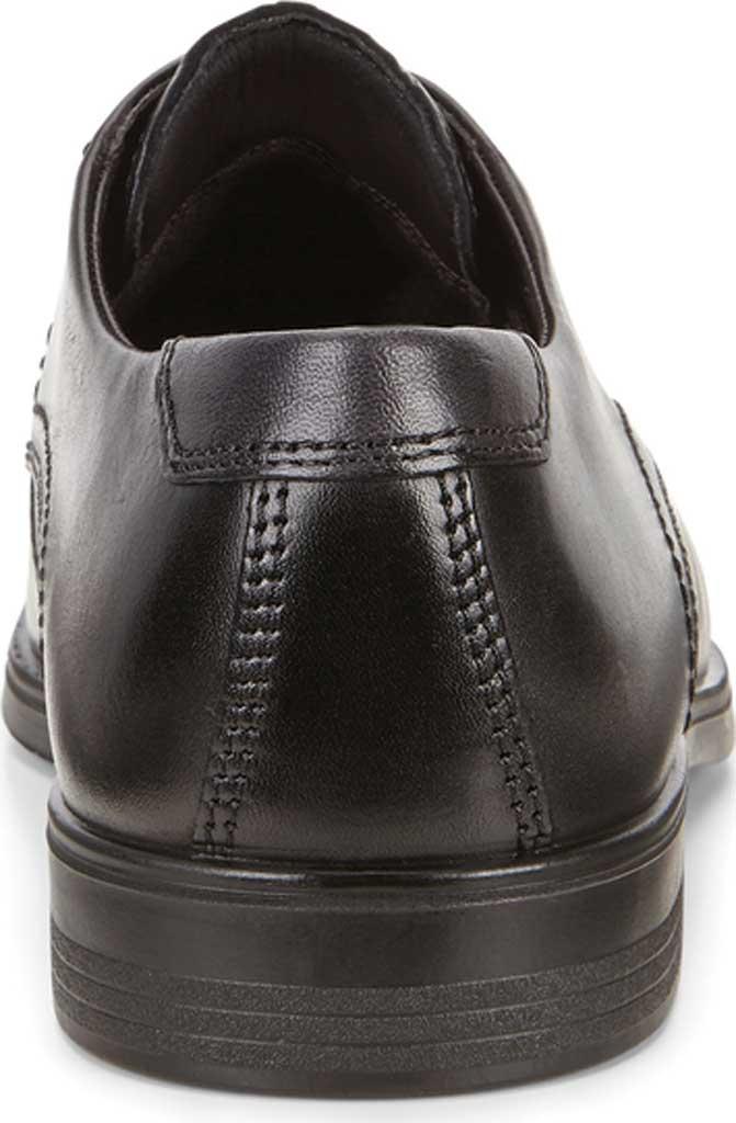 Men's ECCO Melbourne Oxford Tie, Black/Magnet Cow Leather, large, image 4