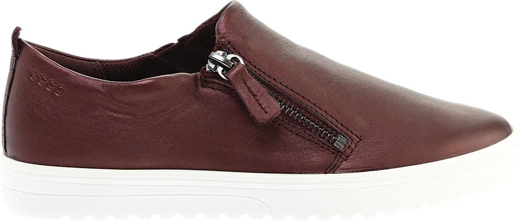 Women's ECCO Fara Zip Sneaker, Fig Metallic Leather, large, image 2