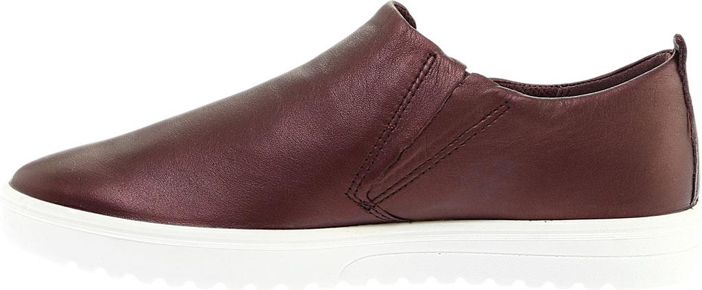 Women's ECCO Fara Zip Sneaker, Fig Metallic Leather, large, image 3
