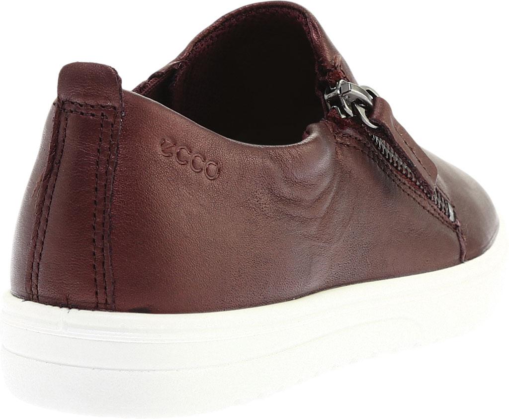 Women's ECCO Fara Zip Sneaker, Fig Metallic Leather, large, image 4